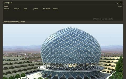 Screenshot of Home Page onaysh.com - onaysh - captured Oct. 9, 2014