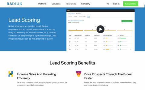 Lead Scoring - Radius