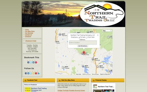 Screenshot of Maps & Directions Page northerntrailtrading.com - Directions - captured Oct. 7, 2014