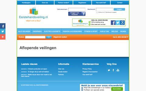 Screenshot of Home Page eerstehandsveiling.nl - Eerstehandsveiling.nl | Altijd wat in huis! - captured Oct. 2, 2014