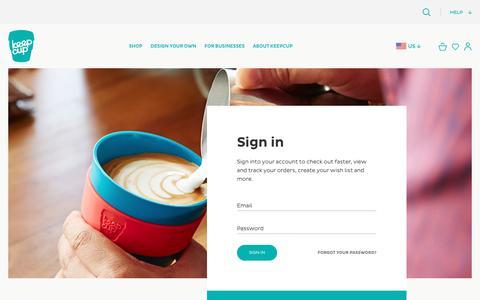 Screenshot of Login Page keepcup.com - Customer Login - captured Nov. 20, 2018