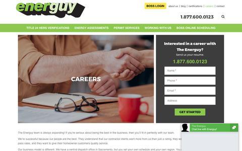 Screenshot of Jobs Page energuy.com - Careers   The Energuy   California - captured Oct. 24, 2017