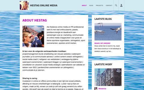 Screenshot of About Page hestag.com - About Hestag -Hestag Online Media - captured Jan. 22, 2016