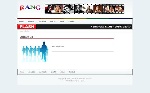 Screenshot of About Page rangfilms.com - RANG FILMS - captured Oct. 7, 2014