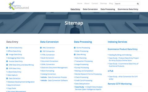 Screenshot of Site Map Page dataentryoutsourced.com - Sitemap - captured Sept. 27, 2019