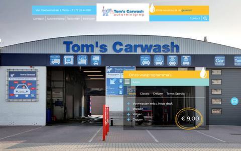 Screenshot of Home Page toms-carwash.nl - Tom's Carwash, de specialist voor het reinigen van uw auto - captured Oct. 9, 2017
