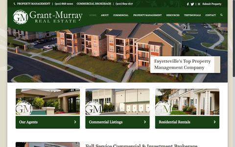 Screenshot of Home Page grantmurrayre.com - Grant Murray Real Estate LLC - captured Sept. 18, 2015