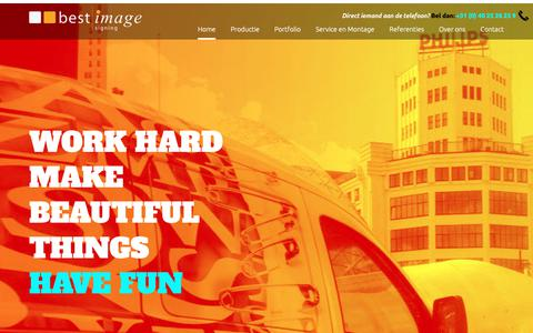 Screenshot of Home Page bestimage.nl - Best Image Signing BV - Commercieel en industrieel - captured Nov. 13, 2018