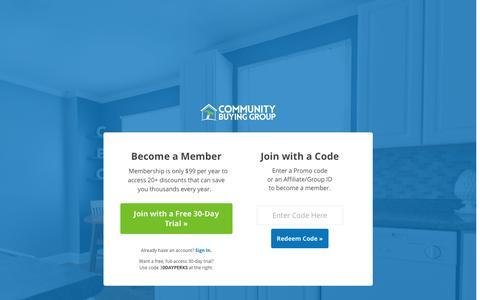 Screenshot of Signup Page communitybuyinggroup.com - Join - Community Buying GroupCommunity Buying Group - captured Nov. 28, 2016