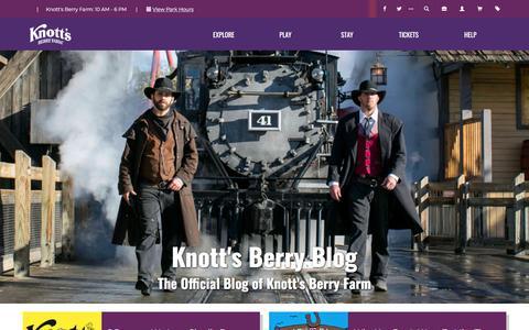 Screenshot of Blog knotts.com - Knott's Berry Blog | Knott's Berry Farm - captured Feb. 4, 2020