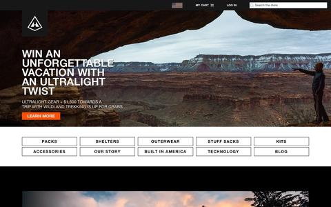 Screenshot of Home Page hyperlitemountaingear.com - Hyperlite Mountain Gear - captured Nov. 4, 2018