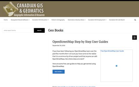 Geo Books – Canadian GIS & Geomatics