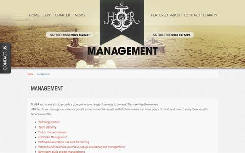 Screenshot of Team Page handryachts.com - Private & Charter Yacht Management | H&R Yachts | Mega YachtCharters - captured Oct. 1, 2014