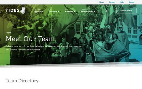 Screenshot of Team Page tides.org - Team - Tides - captured Sept. 24, 2018