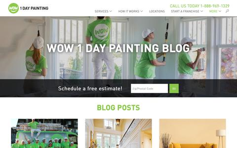 Screenshot of Blog wow1day.com - House Painting Blog | WOW 1 DAY PAINTING - captured Nov. 8, 2018