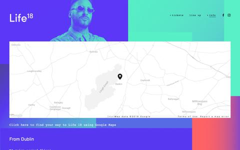 Screenshot of Maps & Directions Page life-festival.com - directions — Life 18 - captured Feb. 25, 2018