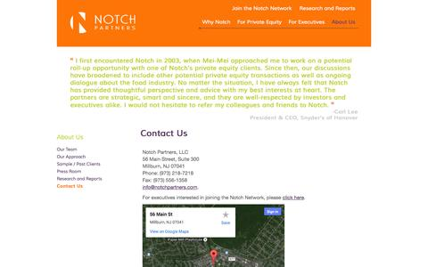 Screenshot of Contact Page notchpartners.com - Contact Us | Notch Partners - captured Oct. 26, 2014