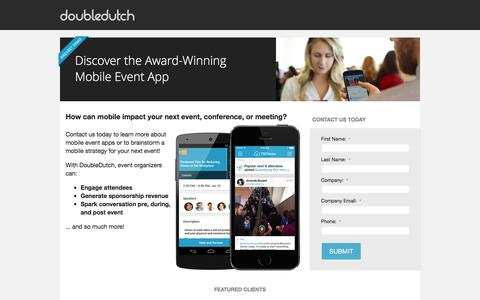 Screenshot of Landing Page doubledutch.me - Request a Demo - captured Dec. 17, 2015