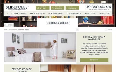 Screenshot of Case Studies Page sliderobes.com - Customer Stories - captured July 22, 2016