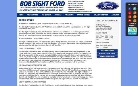 Screenshot of Terms Page bobsightford.com - Bob Sight Ford | Kansas City, MO New & Used Ford Dealer - captured Sept. 30, 2014