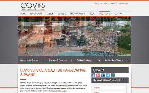 Screenshot of Locations Page covis-stone.com - Service Areas | COVISCOVIS - captured Oct. 1, 2014