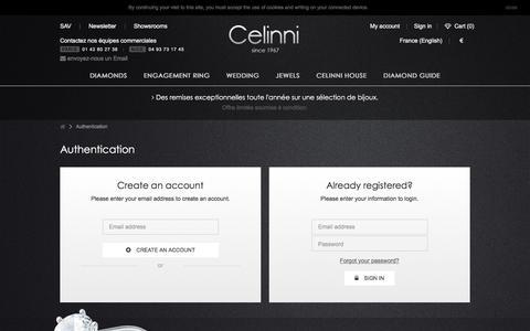 Screenshot of Login Page celinni.com - Connexion - La boutique Celinni - captured May 15, 2017