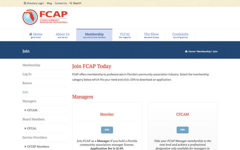 Screenshot of Signup Page fcapgroup.com - Join - FCAP - captured Oct. 27, 2014