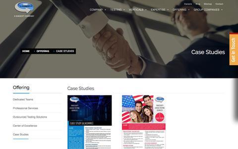 Screenshot of Case Studies Page 360logica.com - Case Studies - 360Logica - captured Sept. 23, 2018