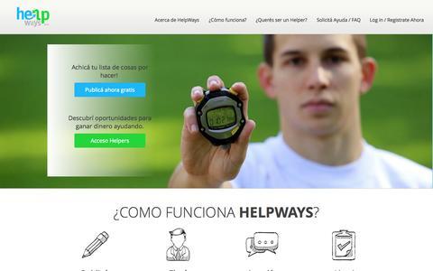 Screenshot of Home Page helpways.com - HelpWays | Soluciones para tu vida - captured Jan. 20, 2015