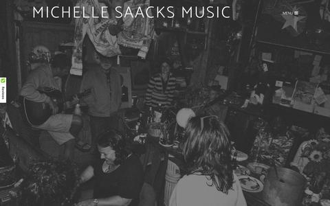 Screenshot of About Page michellesaacksmusic.com - About - MICHELLE SAACKS MUSIC - captured Oct. 18, 2017