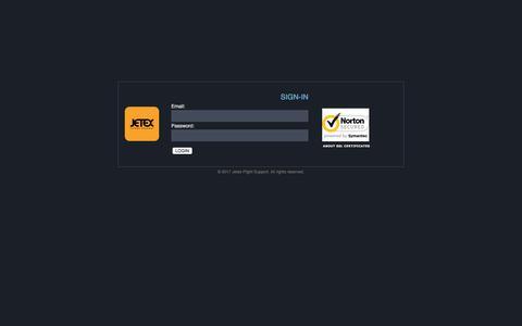Screenshot of Login Page jetex.com - GTM :: Jetex Flight Support - captured July 4, 2017