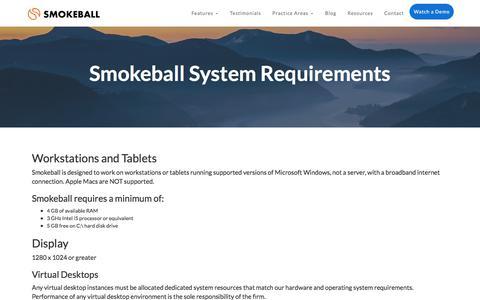 Smokeball System Requirements | Smokeball Case Management