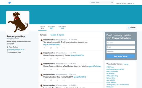 Screenshot of Twitter Page twitter.com - Propertytoolbox (@Propertytoolbox) | Twitter - captured Oct. 23, 2014