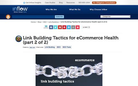 Screenshot of goinflow.com - Link Building Tactics for eCommerce Health (part 2 of 2) - captured March 20, 2016