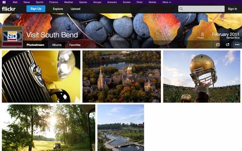 Screenshot of Flickr Page flickr.com - Flickr: Visit South Bend's Photostream - captured Oct. 25, 2014