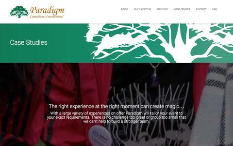 Screenshot of Case Studies Page pci-asia.com - Paradigm Consultants InternationalCase Studies - Paradigm Consultants International - captured Jan. 25, 2016