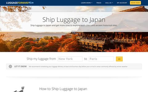 Ship Luggage to Japan | Ship Sports Gear to Japan
