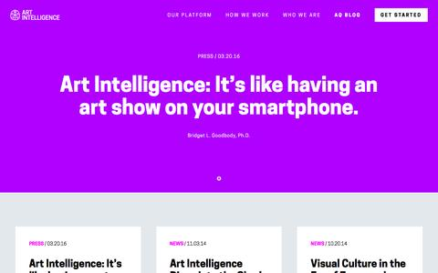 Screenshot of Press Page artintelligence.com - News - Art Intelligence - captured Nov. 21, 2016