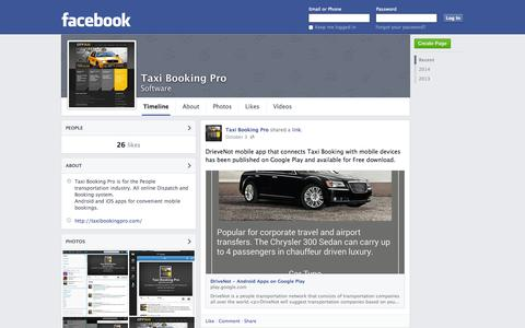 Screenshot of Facebook Page facebook.com - Taxi Booking Pro | Facebook - captured Oct. 26, 2014