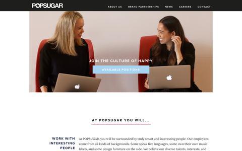 Screenshot of About Page Contact Page popsugar.com - POPSUGAR - captured Dec. 2, 2015