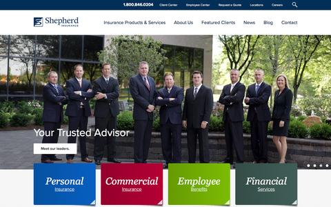 Screenshot of Home Page shepherdins.com - Shepherd Insurance | Personal and Commercial Insurance | Indiana - captured Dec. 11, 2015