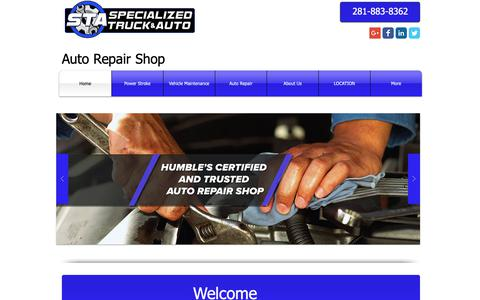 Screenshot of Home Page specializedtruckandauto.com - Auto Repair Humble tx | The Price and Services Are Excellent - captured Nov. 19, 2018