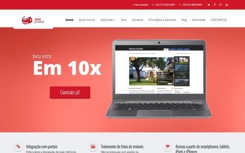 Screenshot of Home Page fastbroker.com.br - Sistema e site para imobiliária, integrado com os principais portais imobiliários. - captured Aug. 5, 2016