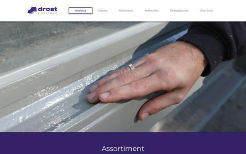Screenshot of Home Page drostcoatings.nl - Verfproducent van Professionele Verf | Drost Coatings - captured Jan. 29, 2018