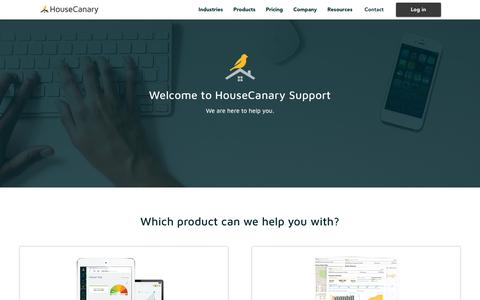 Screenshot of Support Page housecanary.com - Support - captured Sept. 10, 2017
