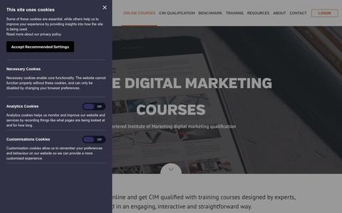 Screenshot of Trial Page targetinternet.com - Online digital marketing courses - CIM digital marketing qualification online - elearning | Target Internet - captured Sept. 21, 2018