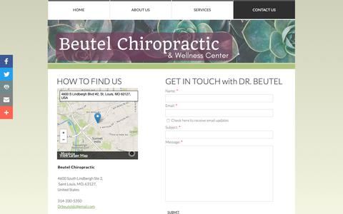 Screenshot of Privacy Page Contact Page beutelchiropractic.com - Contact Us - captured Oct. 5, 2018