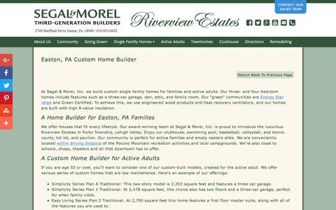 Screenshot of Maps & Directions Page segalmorelhomes.com - Segal & Morel, Inc. - Easton, PA (610) 923-8422 - Home Builder, Custom Home Builder - captured Nov. 19, 2016