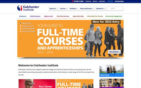Screenshot of Site Map Page bctconsortium.org.uk - Colchester Institute | Education and Training Courses in Essex - captured Oct. 3, 2014