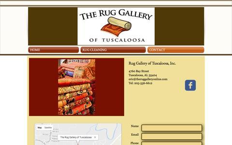 Screenshot of Contact Page theruggalleryonline.com - Contact Rug Gallery - captured Dec. 1, 2016